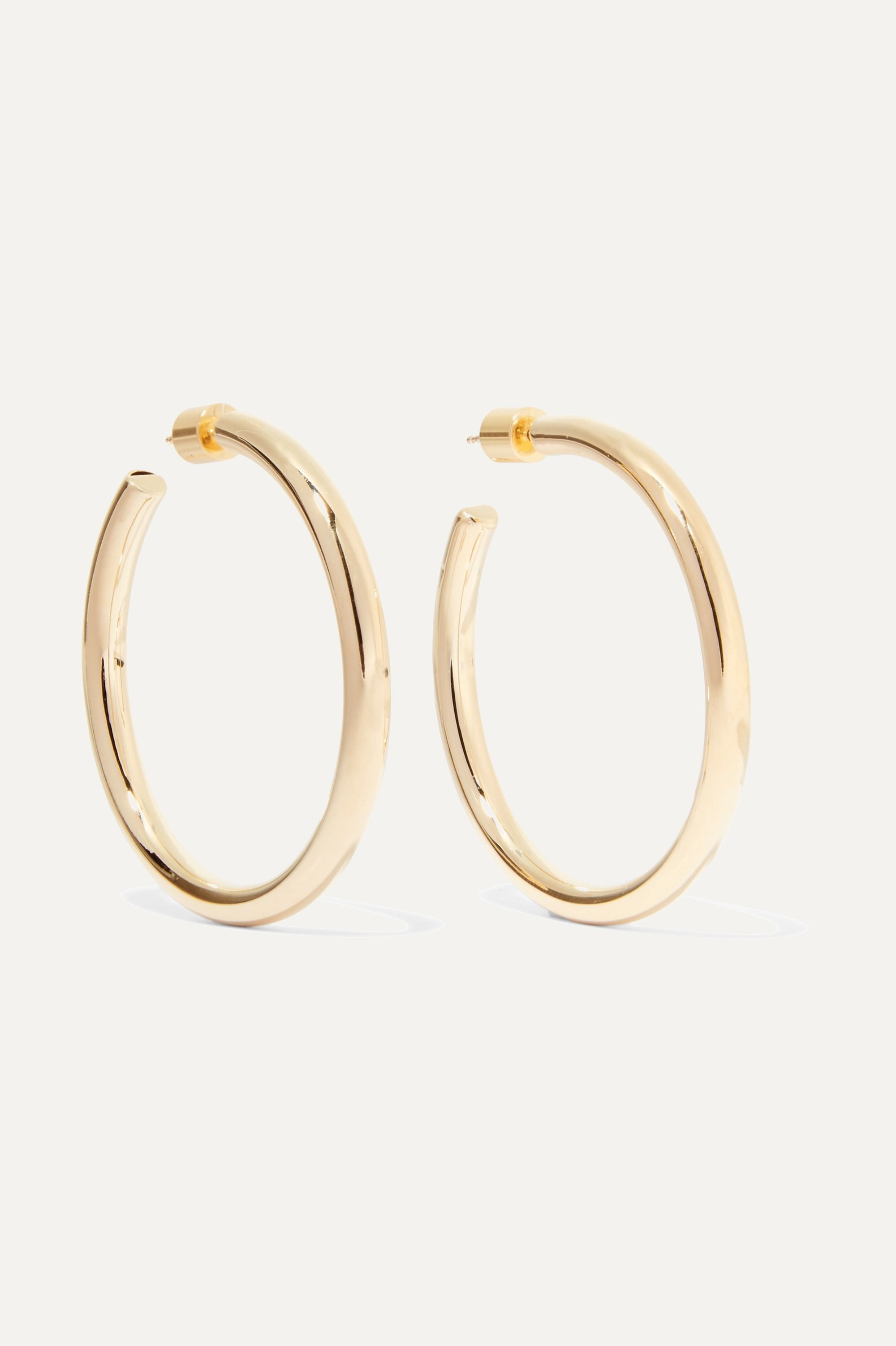 Jennifer Fisher Baby Lilly gold-plated hoop earrings