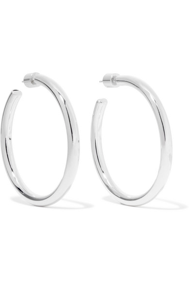 Jennifer Fisher Baby Lilly Silver-plated Hoop Earrings