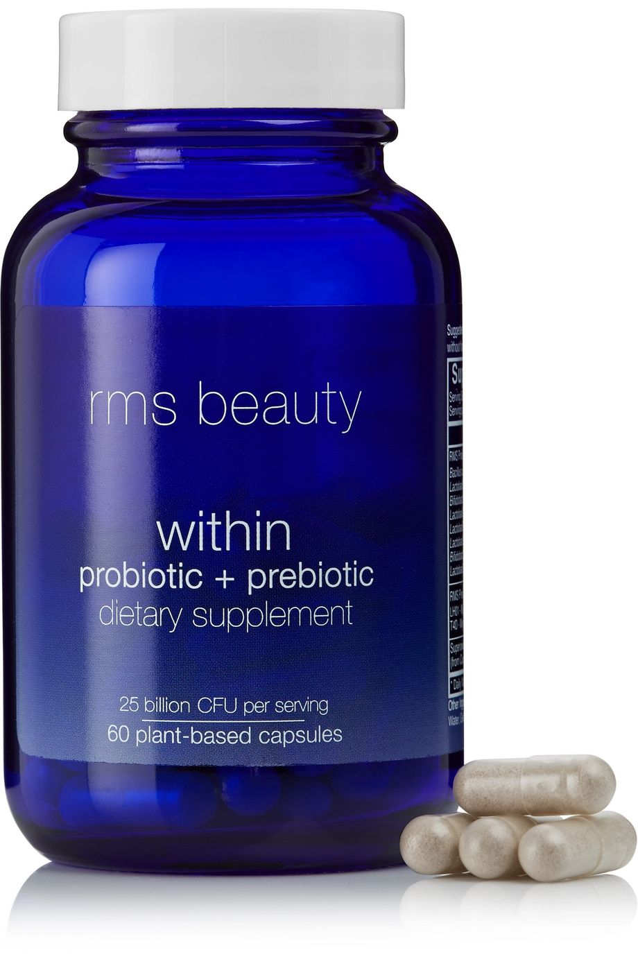 RMS Beauty Within Probiotic + Prebiotic Dietary Supplement, 60 capsules