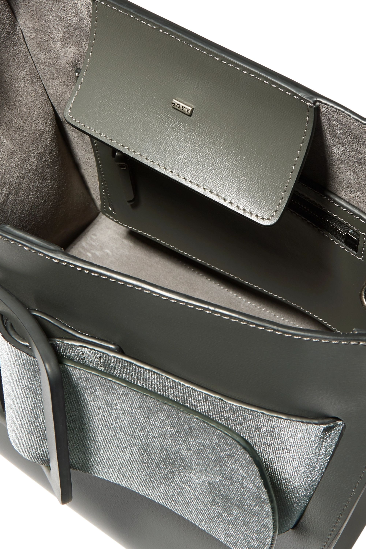 BOYY Devon buckled velvet and leather tote