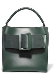 BOYY Devon leather and velvet tote