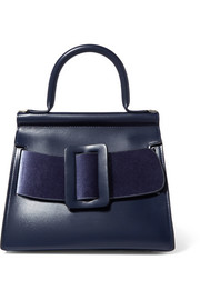 BOYY Karl 24 buckled leather and velour tote