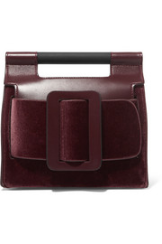 BOYY Romeo buckled velvet and leather clutch