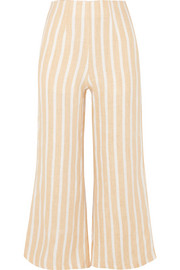 Faithfull The Brand Thomas cropped wide-leg striped linen pants