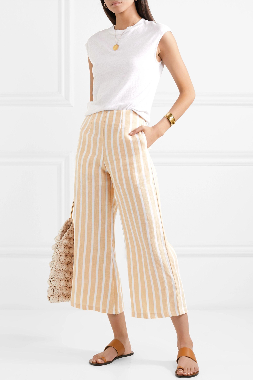 Faithfull The Brand Thomas cropped wide-leg striped linen pants
