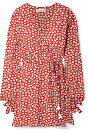 Faithfull The Brand Poppy wrap-effect floral-print crepe mini dress