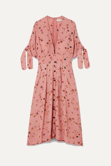 later release date aliexpress Faithfull The Brand | Nina floral-print crinkled-crepe midi dress ...