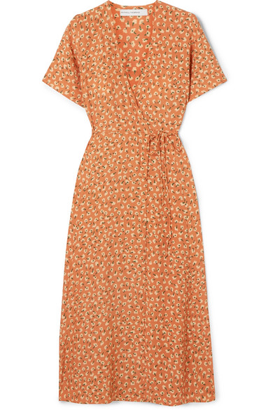 FAITHFULL THE BRAND Leila floral-print crepe wrap dress