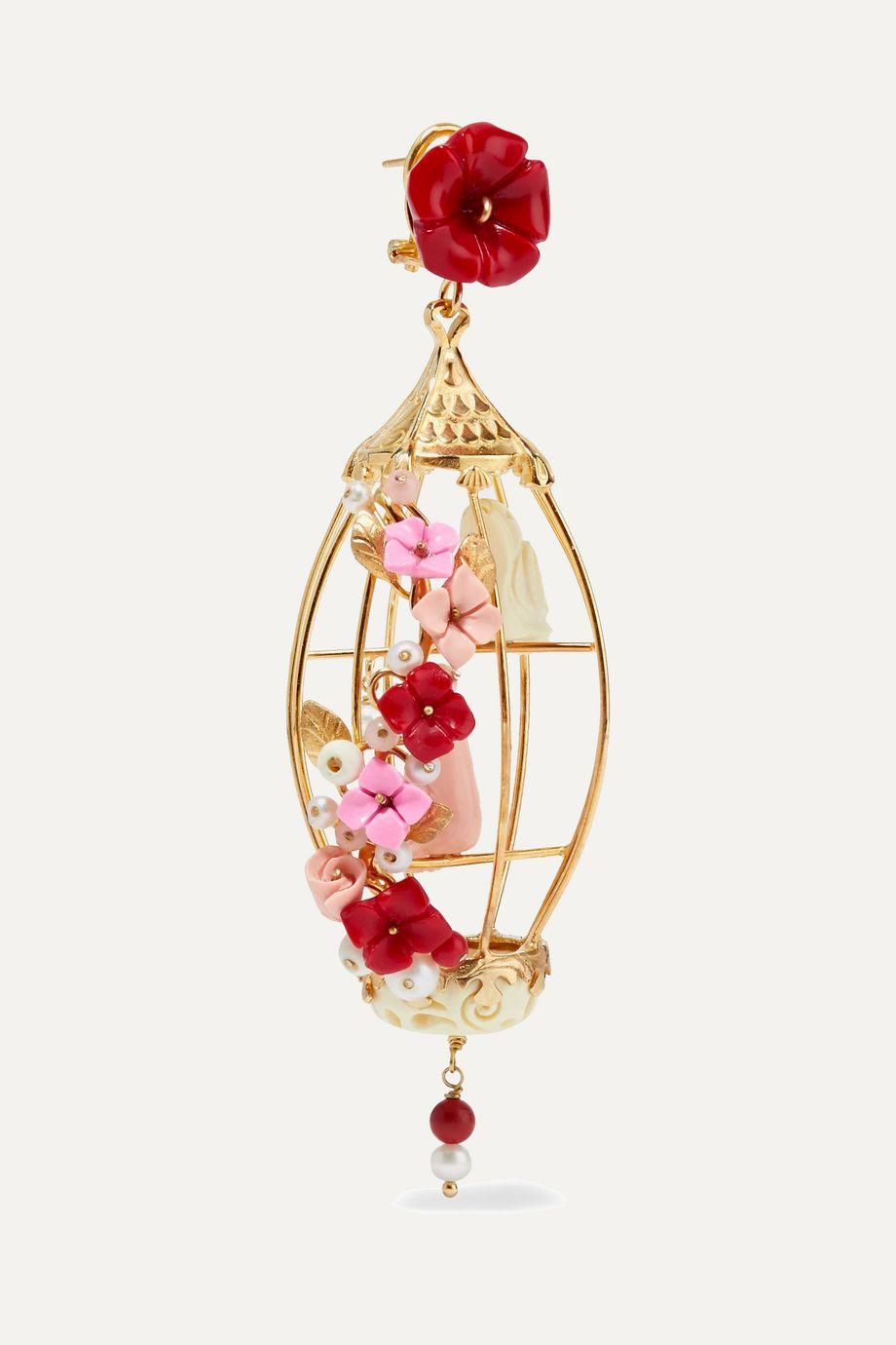 Of Rare Origin Lovebirds gold vermeil multi-stone earrings