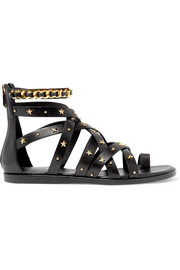 Balmain Embellished leather sandals