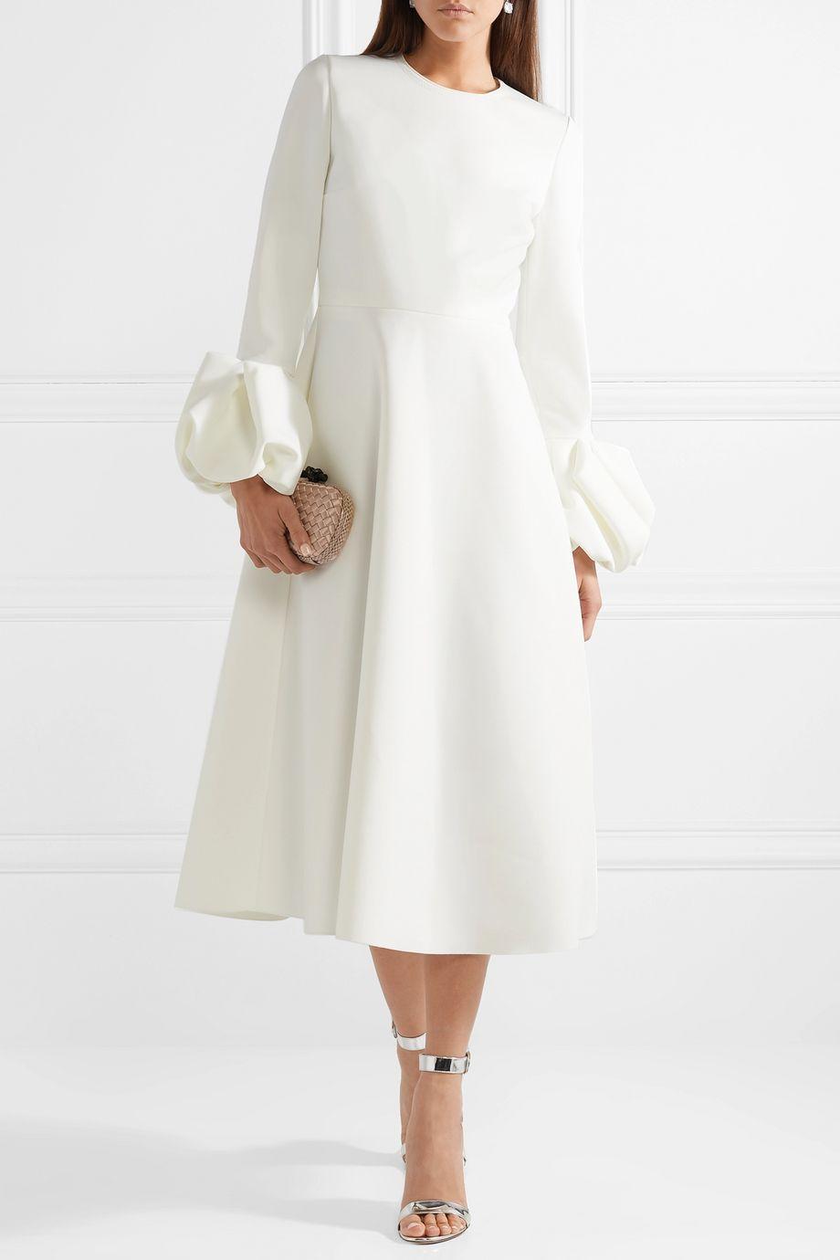 Roksanda Ruffled crepe midi dress