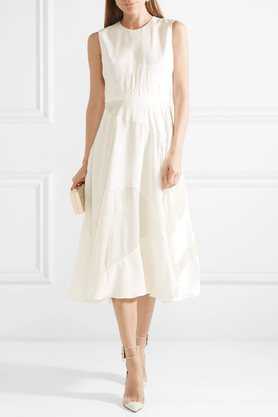 Roksanda Keanu silk-crepe and faille midi dress