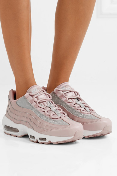 wholesale dealer 510b6 feab9 Air Max 95 glittered leather and suede sneakers
