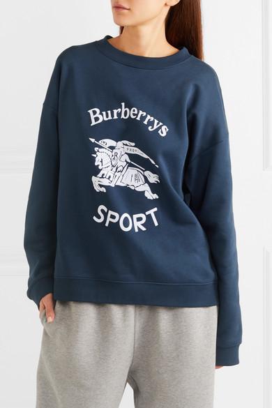 Burberry Beflocktes Sweatshirt aus Jersey aus einer Baumwollmischung