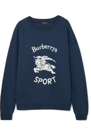 Burberry Flocked cotton-blend jersey sweatshirt