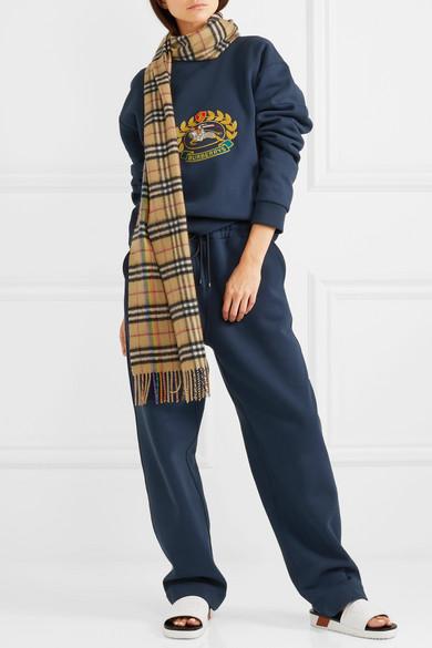 Burberry Besticktes Sweatshirt aus Jersey aus einer Baumwollmischung