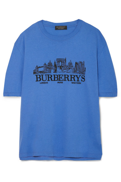 Burberry   Oversized embroidered cotton-jersey T-shirt   NET-A ... 224c86304b7