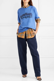 Oversized embroidered cotton-jersey T-shirt