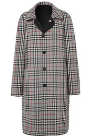 Burberry Reversible gabardine and checked wool coat