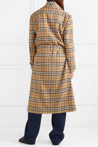 Burberry Karierter Mantel aus Wolle