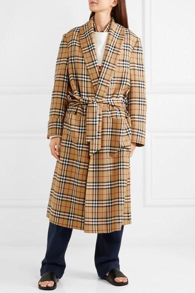 Burberry Karierter Mantel aus Wolle Spielraum Marktfähig Günstig Kaufen 2018 Neueste Verkauf Original Wo Billige Echte Kaufen sZ80W4