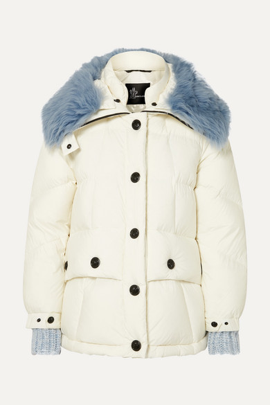 fbfdf5ea459 Carezza shearling-trimmed quilted down jacket