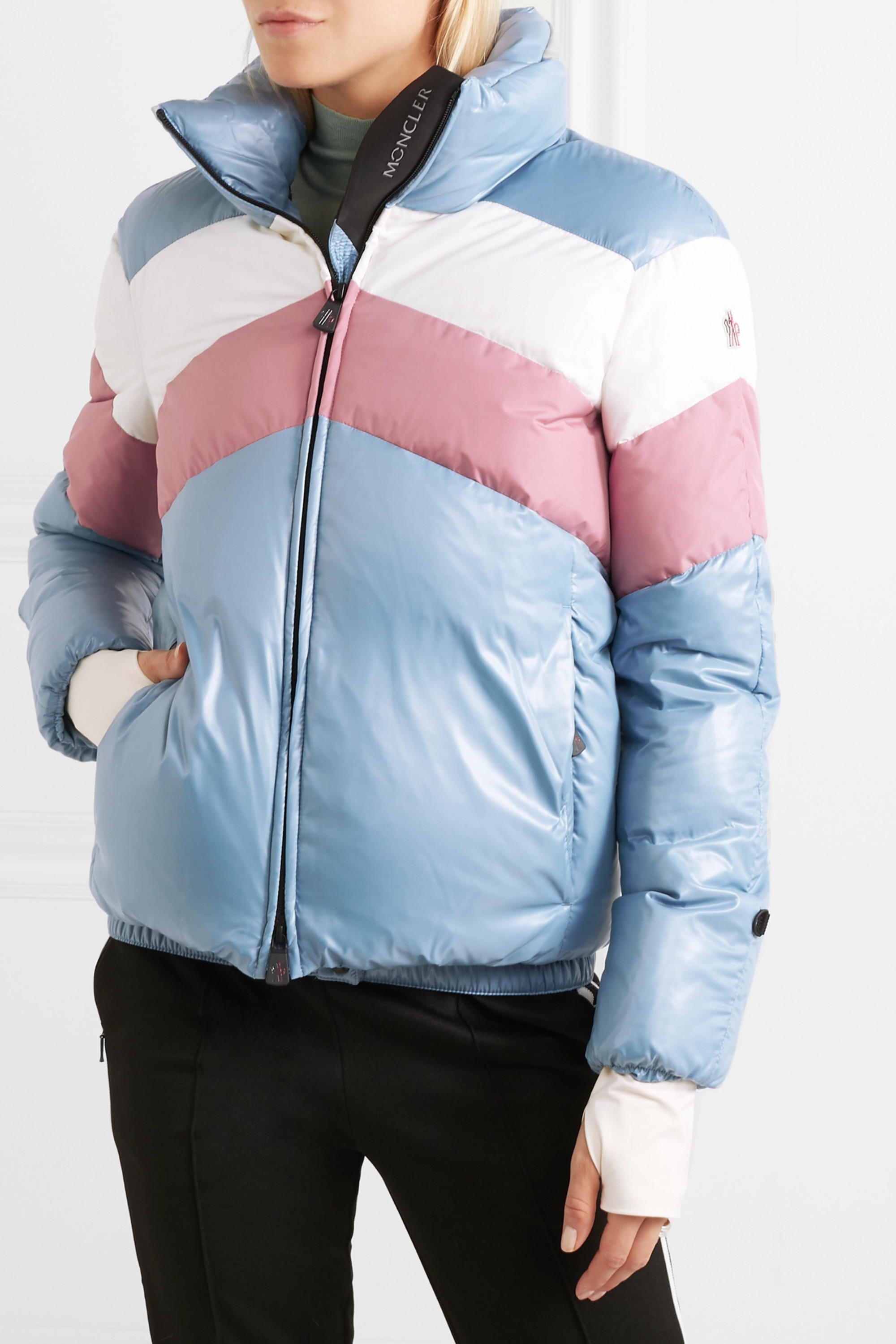 Moncler Grenoble Lamar color-block quilted down jacket
