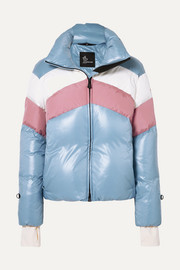 Lamar color-block quilted down jacket