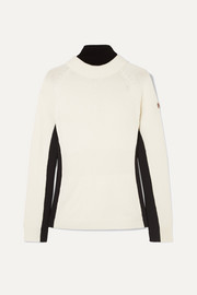Ciclista layered wool-blend and shell turtleneck sweater