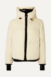 Emet quilted velvet down jacket