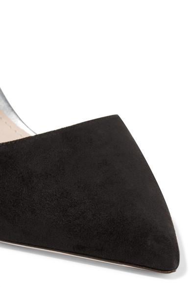 Miu Miu | Pumps aus Glitter-Finish Veloursleder und Leder mit Glitter-Finish aus fe4f62