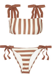 Zimmermann Helm grosgrain-trimmed striped bikini