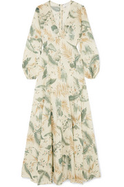 EXCLUSIVE Printed cotton-voile maxi dress