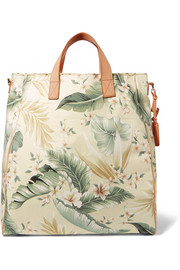 Zimmermann Tropical Palm printed canvas tote