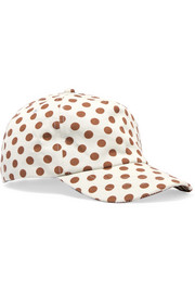 Zimmermann EXCLUSIVE Polka-dot cotton-twill baseball cap