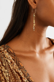 Tropical Charm gold-plated earrings