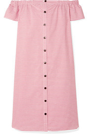 Mara Hoffman Malou off-the-shoulder striped organic cotton dress