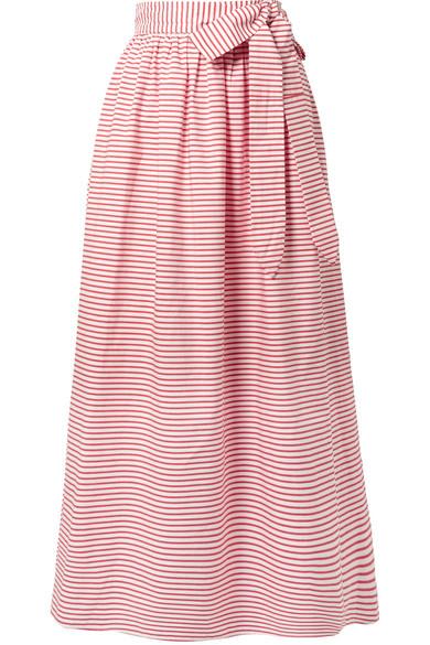 Katrine Striped Organic Cotton Wrap Skirt by Mara Hoffman