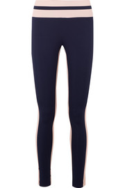 Vaara Flo Tuxedo striped stretch-knit leggings