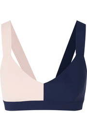 Vaara Elsa two-tone stretch-knit sports bra