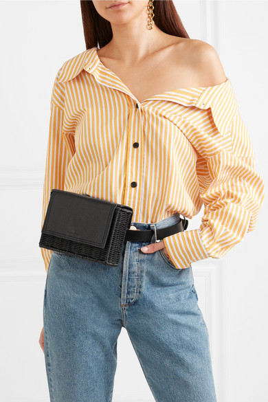a06a25c5 Tao rattan and leather belt bag