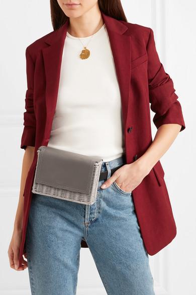 412f69f9 Wicker Wings | Tao rattan and leather belt bag | NET-A-PORTER.COM