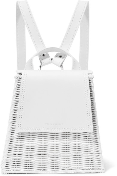 Tixing Tall Rattan And Leather Backpack - White Wicker Wings tc9cdW