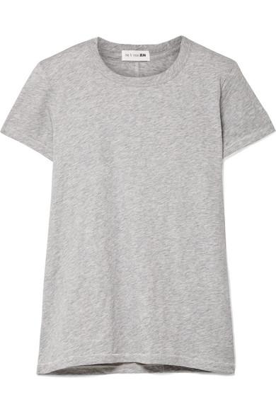 rag & bone The Tee T-Shirt aus Baumwoll-Jersey mit Flammgarneffekt