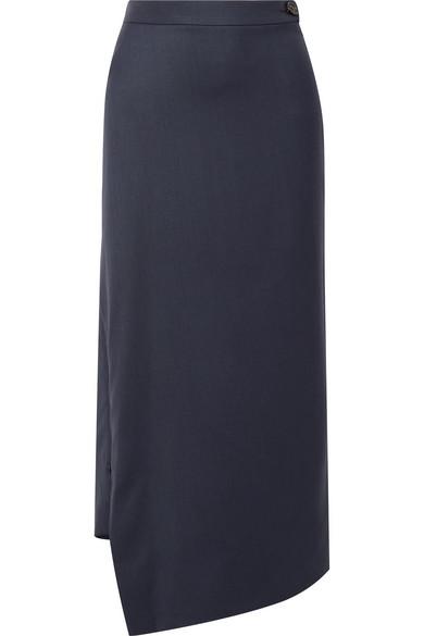 Vivienne Westwood - Serge Wool Maxi Skirt - Navy