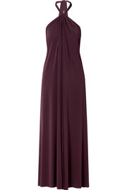 Poker Tricheuse stretch-jersey halterneck maxi dress