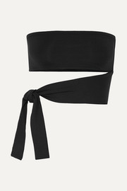 Les Essentiels Poker Bank wrap-effect bandeau bikini top