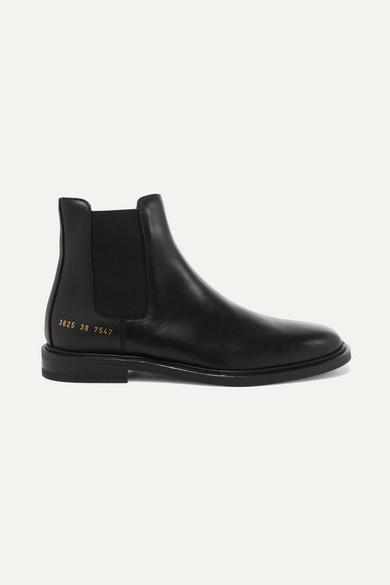 Ssense Exclusive Black Leather Chelsea Boots