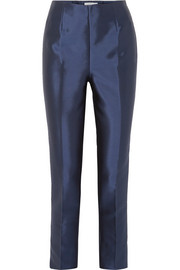 Masto silk and wool-blend tapered pants