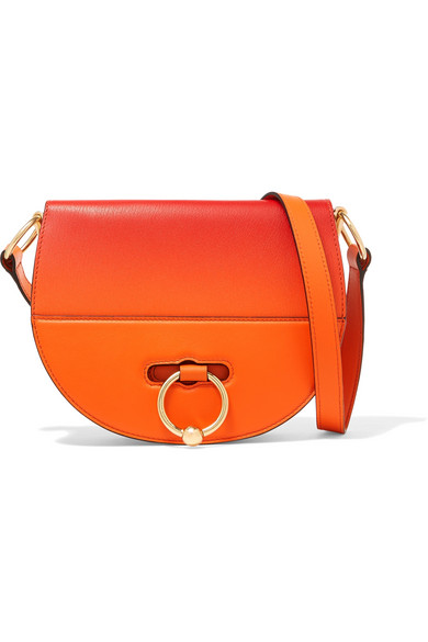 JW Anderson - Latch Dégradé Smooth And Textured-leather Shoulder Bag - Orange